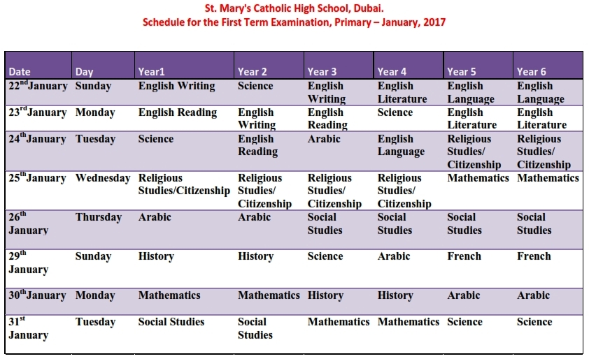 primary-first-term-exam-time-table-_-yr1_-yr6_jan_2017_001