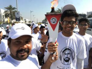 Lighting the torch for Zayed event